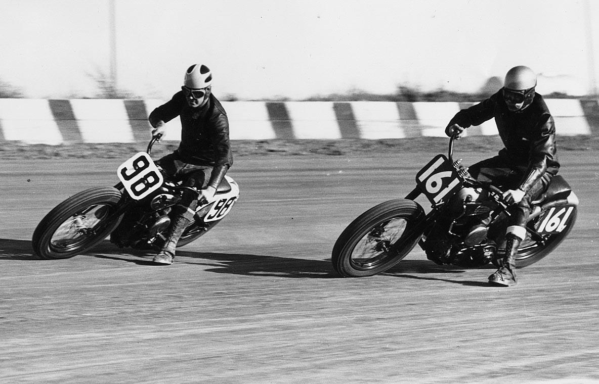 1 1953 #98 Joe Leonard  #161  G. Benson  Belmont Speedway
