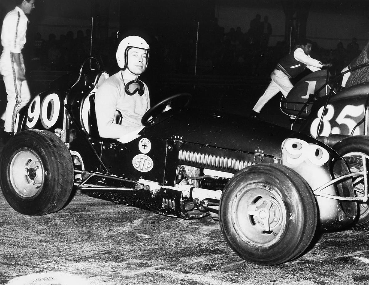 14 1966 #90 G. Benson in the J. Crawford Cevy II Oakland Expo indoor Race