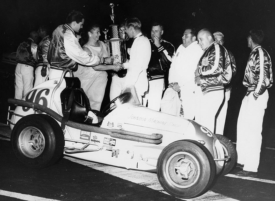 15 1965 Trophy presentation for Little Indy win San Jose Speedway.