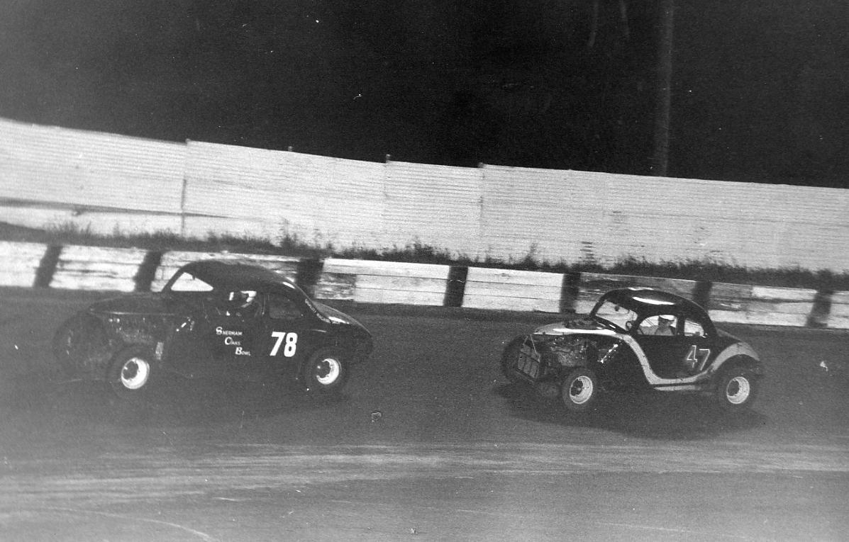 3 1958 #78 B. Foland and #47  G. Benson San Jose  Speedway